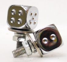 Number Plate Bolts Chrome Dice