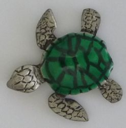 Turtle Pewter Badge