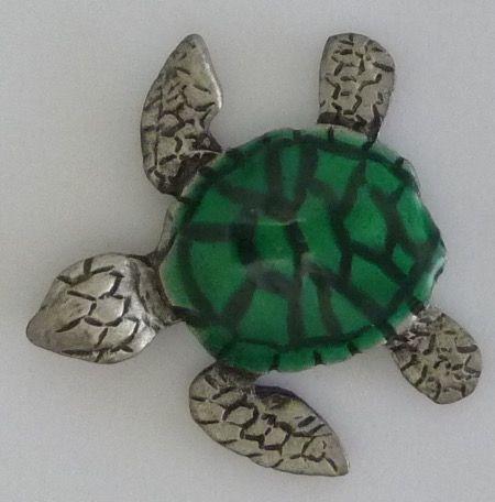 Turtle Pewter Badge