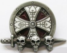 Belt Buckle Celti Skull Sheild