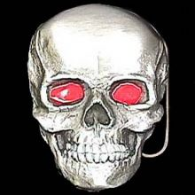 Belt Buckle Skull Red Eyes Full