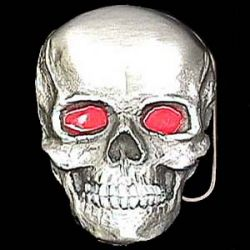 Belt Buckle Skull Red Eyes Full