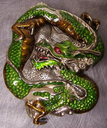 Belt Buckle Green Dragon