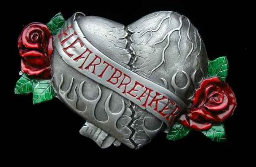 Belt buckle Heartbreaker Coloured
