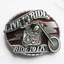 Belt Buckle  Live to Ride Red&Blue