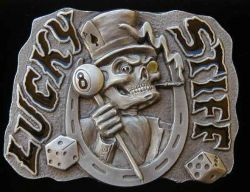 Belt Buckle Lucky Stiff