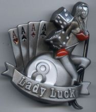 Belt Buckle Lady Luck