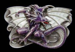 Belt Buckle Purple Dragon