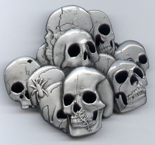 Belt Buckle Spider Skulls