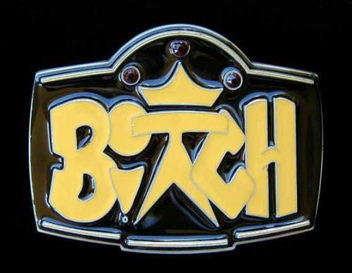 Belt Buckle Bitch Yellow