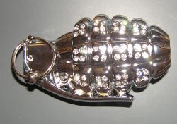 Belt Buckle Silver Grenade