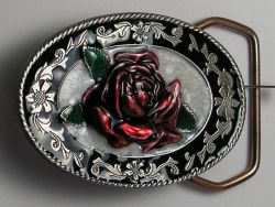 Belt Buckle Western Rose