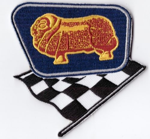 Golden Fleece & Racing Flag Embroidered Patch