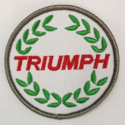 Triumph Wreath Round Embroidered Patch