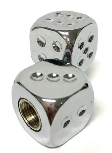Valve Caps Chrome Plated Dice