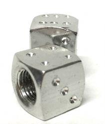 Valve Caps Solid Aluminium Dice