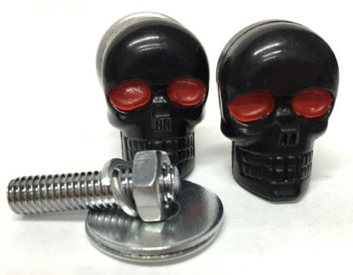 Number Plate Bolts Skull Black