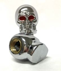 Valve Caps Chrome Skull