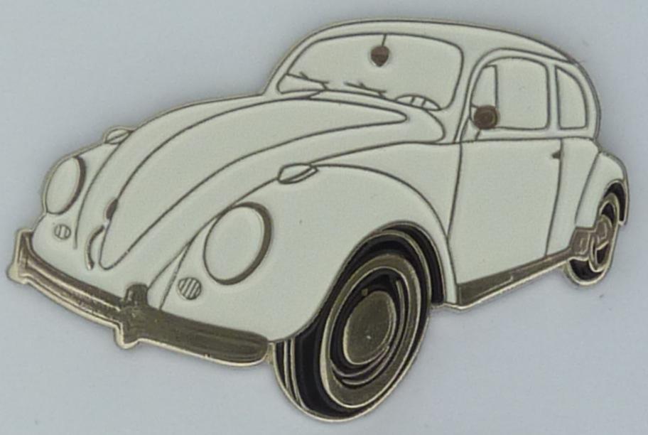 Early Model Blue Volkswagen Beetle Quality Metal Lapel Pin Badge